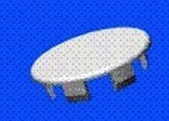 krytka - krycí zátka 6.4 bílá pr.hlavy 10.4mm PA-66