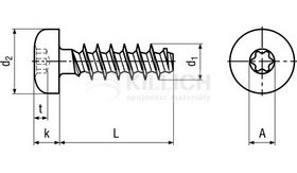 šroub 2.2x5 půlkulatá hlava, do plastu TORX WN1452
