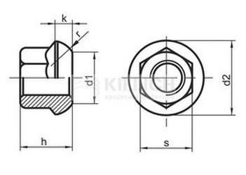 matice 12x1.5 ZINEK /8/ kolová SW17 DIN 74361A