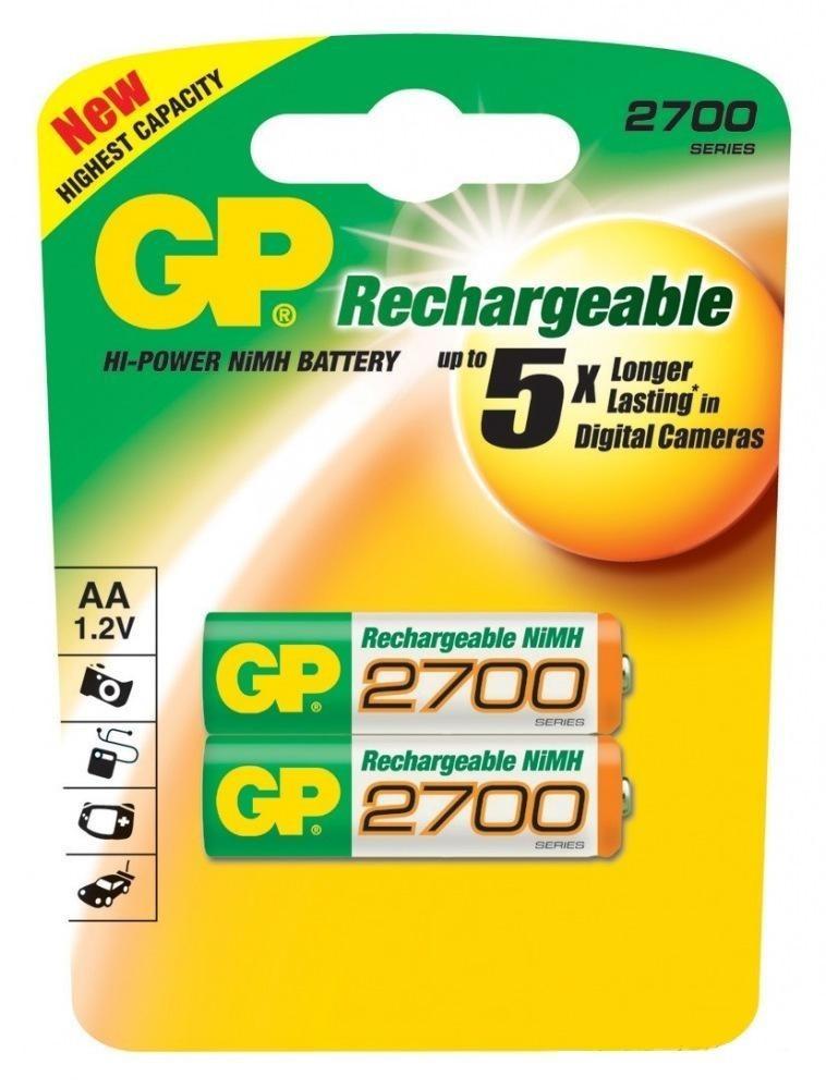 baterie nabíjecí GP2700 AA, blistr (2 ks) B1407