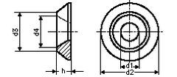 podložka 4.3x11x2.3 HLINÍK rozeta