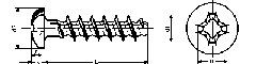 šroub 3.5x7 ZINEK do plastu F-tupé