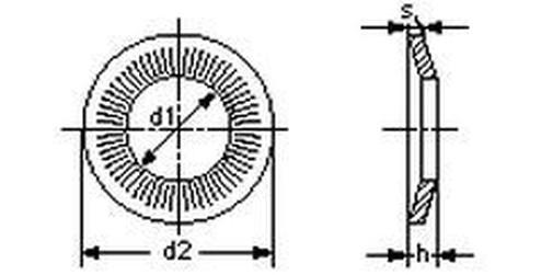 podložka M5 pr. 5.1x12x1.1 A2 NEREZ Rip-lock