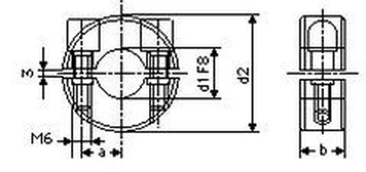 kroužek 30 svěrací-dvoudílný s imbus šroubem BN 5208