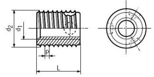 závitová vložka samořezná M8x12x9 BN 4874 do hliníku