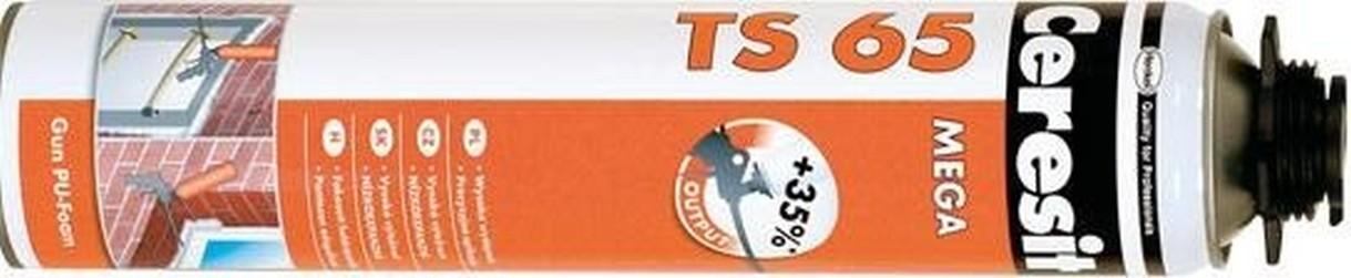 pu pěna CERESIT TS65 850ml pistolová MEGA 65l Letní nízkoexpanzní