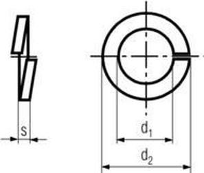 podložka M10 pr. 10.2x18.1x2.2 BEZ PÚ pérová obdelníková DIN 127B