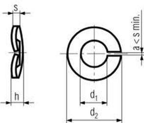 podložka M8 pr. 8.1x14.8x1.5 BEZ PÚ pružná DIN 128A