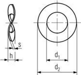 podložka M6 pr. 6.4x12x0.5 ČERNÝ ZINEK pružná zvlněná DIN 137B