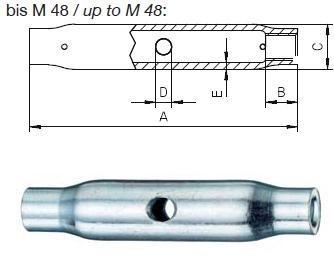 matice M10 A4 NEREZ pro napínače DIN 1478