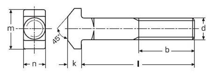 šroub M8x40 A4 NEREZ T hlava DIN 186B