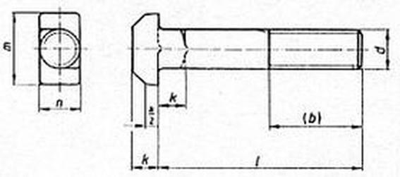 šroub M8x100 ZINEK 8.8 T-hlava DIN 188