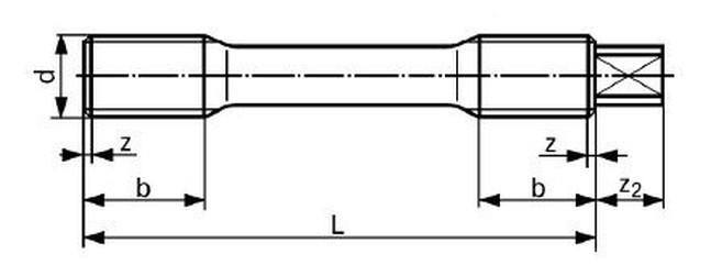 svorník M27x130 21CrMoV5-7(1.7709) ZINEK DIN 2510-L