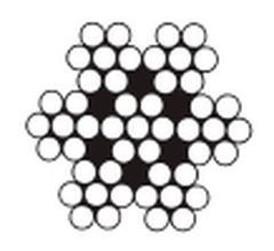 lanko 1.2 ZINEK ocel 7x7 drátů DIN 3055 cívka 500m