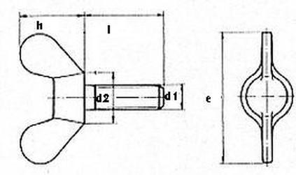 šroub M10x60 ZINEK křídlový DIN 316 GT