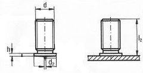 čep M8x12 Cu+čípek navařovací PK-B vnější závit DIN 32501