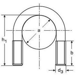 třmen (šroub) tvar U M12x112x89x40 A4 NEREZ DIN 3570