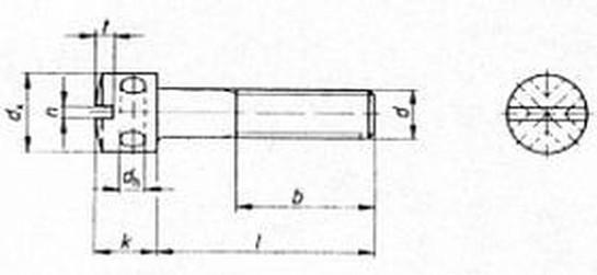 šroub M6x16 ZINEK 5.8 válcová hlava, zajišťovací (plombovací) DIN 404