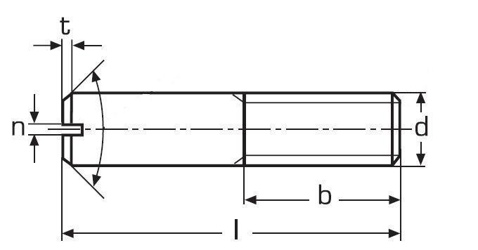 šroub M5x18 BEZ PÚ 14H drážka DIN 427