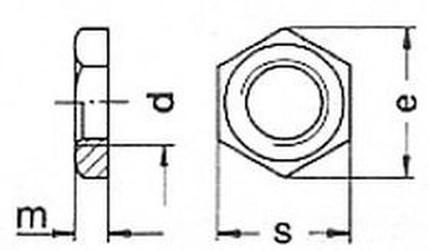 matice 1/2 G ZINEK DIN 431B
