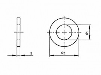 podložka M4 pr. 4.3x8x0.5 MOSAZ DIN 433