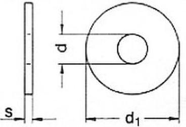 podložka M12 pr. 13.5x44x4 ŽÁROVÝ ZINEK pro dřevěné konstrukce DIN 440R