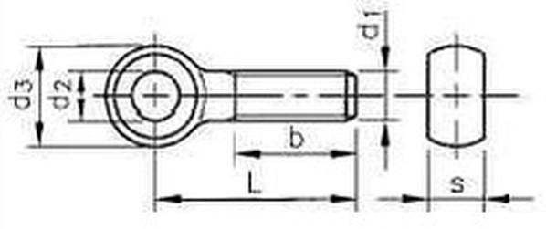 šroub M10x50 ZINEK 4.8 otočný částečný závit DIN 444B