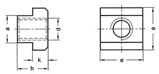 matice M10x12x18 BEZ PÚ /10/ T-drážka DIN 508