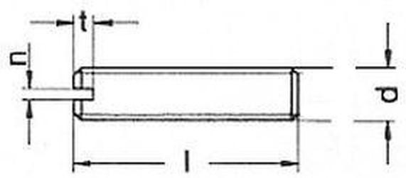 šroub M3x6 MOSAZ drážka + kužel DIN 551