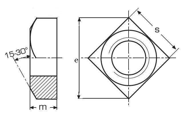 matice M6 ZINEK /4/ čtyřhranná vysoká DIN 557