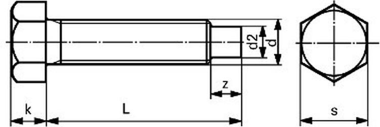šroub M12x25 ZINEK 8.8 odtlačovací DIN 561B