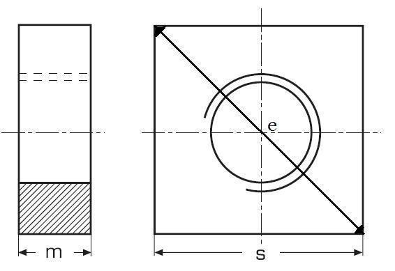 matice M10 ZINEK 4 hranná nízká 17x17 DIN 562
