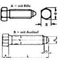 šroub M20x60 BEZ PÚ 8.8 odtlačovací DIN 564B