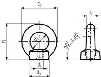 matice M10 BEZ PÚ C15 E závěsná DIN 582