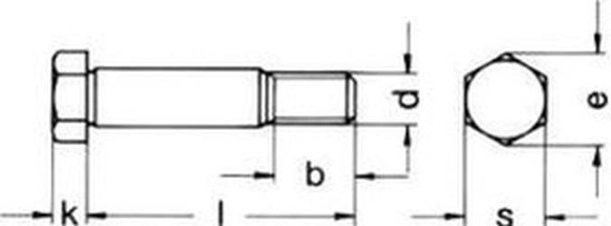 šroub M20x180 BEZ PÚ 8.8 lícovaný DIN 609