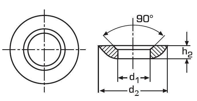 podložka M6 pr. 6.4x12x2.3 BEZ PÚ kulovitá DIN 6319C