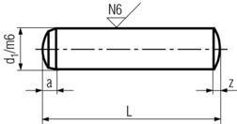 kolík 2.5x6 m6 BEZ PÚ válcový kalený DIN 6325
