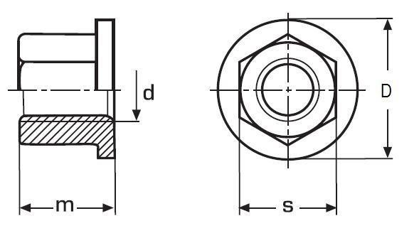 matice M10 BEZ PÚ /10/ s nákružkem DIN 6331