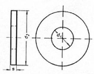 podložka M6 pr. 6.4x17x3 ZINEK pro pevnostní spoje DIN 6340