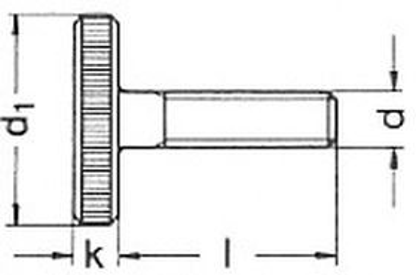šroub M5x16 BEZ PÚ 5.8 rýhovaná hlava DIN 653