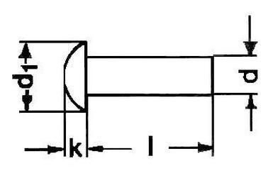 nýt 2x5 Fe-ocel půlkulatá hlava DIN 660