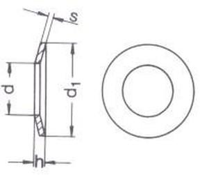 podložka M6 pr. 6.4x14x1.5 ŽLUTÝ ZINEK pružná DIN 6796
