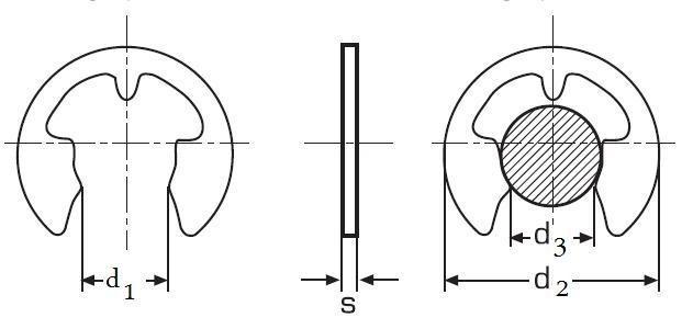 pojistný kroužek pro hřídele 7 ZINEK DIN 6799