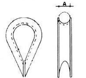 srdcovka 5 A4 NEREZ pro lano DIN 6899 A