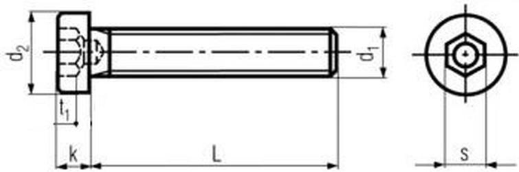 imbus M10x40 ZINEK 8.8 nízká válcová hlava DIN 6912