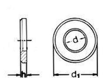 podložka M16 pr. 17x30x4 BÍLÝ ZINEK 300 HV kruhová pro vysokopevnostní konstrukce DIN 6916 / EN 14399