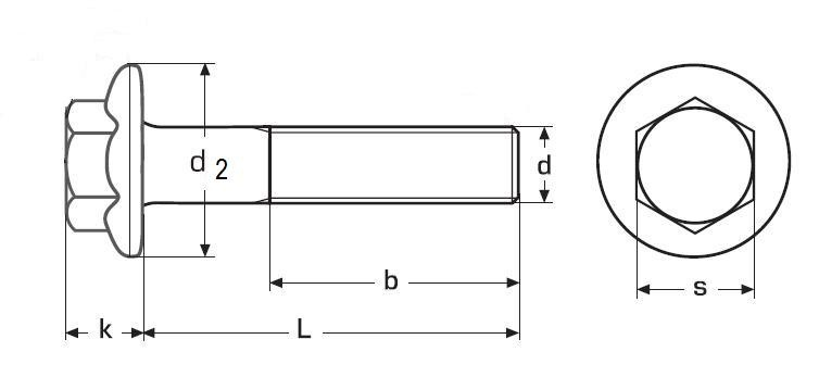 šroub M8x20 ZINEK 8.8 límec hladký DIN 6921
