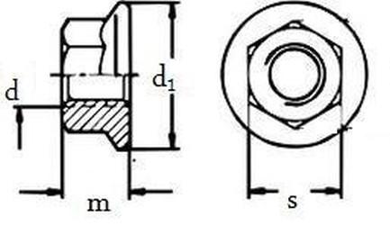 matice M12 ZINEK /8/ límec bez ozubení DIN 6923