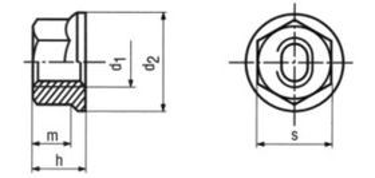 matice M8 ZINEK /8/ pojistná + límec kovová DIN 6927