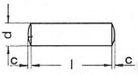 kolík 3x6 m6 A1 NEREZ válcový DIN 7 A